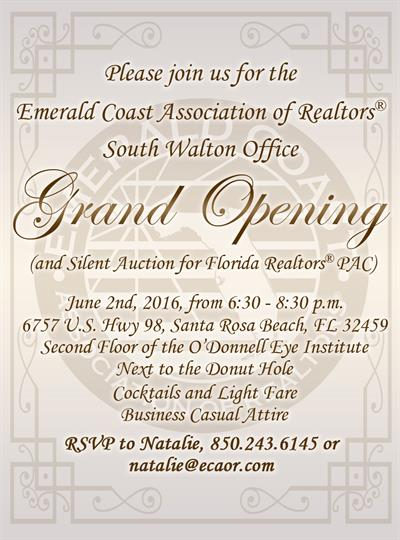 South Walton Office Grand Opening Ribbon Cutting And Office Hours